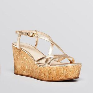 Kate Spade New York Talanse Cork Wedges - gold